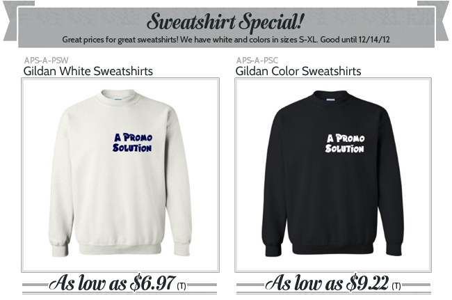 Sweatshirt Special!
