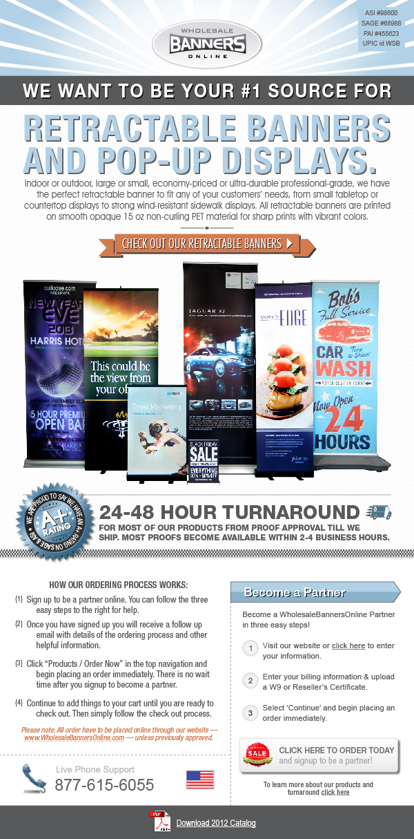 Retractable Banner Sale
